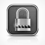 Padlock icon on white Royalty Free Stock Image
