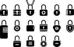Padlock icons Stock Images