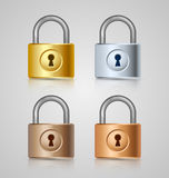 Padlock icons Stock Photos