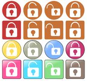 Padlock icons Royalty Free Stock Image
