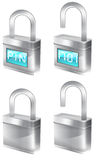 Padlock illustrations Royalty Free Stock Photography