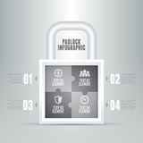 Padlock Infographic Stock Photos