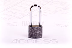 Padlock and inscription ACCESS Stock Photo