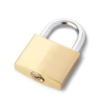 Padlock isolated. On white, clipping path included Royalty Free Stock Image