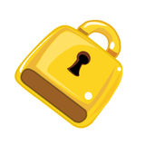 Padlock isolated illustration Royalty Free Stock Images