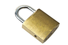 Padlock isolated on white Stock Photos