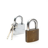 Padlock isolated on white background Royalty Free Stock Image