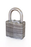 Padlock isolated on white background, clipping path Stock Image