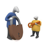 Padlock and key stock photos