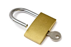 Padlock and key Royalty Free Stock Images