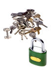 Padlock with key Stock Image