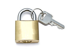 Padlock and key Royalty Free Stock Photos
