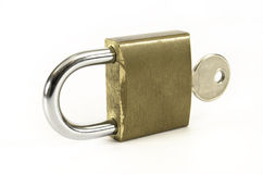 Padlock with key Royalty Free Stock Photography