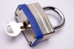 Padlock & key Stock Photography