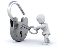 Padlock and key Stock Images