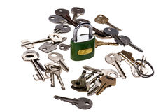 Padlock with key close up Royalty Free Stock Photo