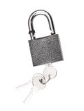 Padlock with key isolated Stock Image