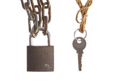 Padlock and key Royalty Free Stock Image
