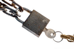Padlock and key Royalty Free Stock Photography