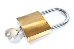 Padlock with key Stock Images