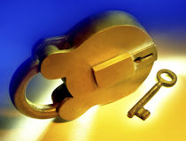 Padlock and Key - Security Royalty Free Stock Photo