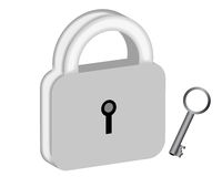 Padlock with key Royalty Free Stock Image