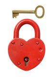 Padlock and key. Padlock and key on a white background Stock Image