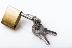 Padlock and key Stock Photography