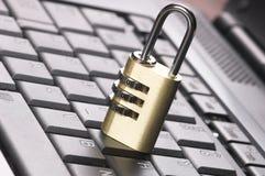 Padlock on Keyboard Stock Image