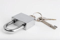 Padlock and keys Stock Photo