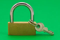 Padlock with keys Stock Photo