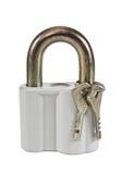 Padlock with keys Royalty Free Stock Photo