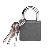 Padlock and keys Stock Photos