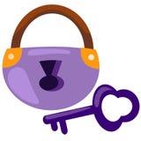 Padlock and keys Stock Photo