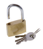 Padlock and keys Stock Image