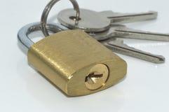 Padlock and keys Royalty Free Stock Photo