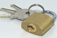 Padlock and keys Royalty Free Stock Image