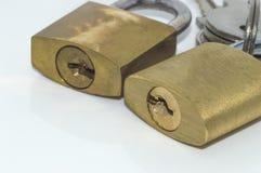 Padlock and keys Royalty Free Stock Images