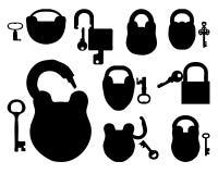 Padlock with keys royalty free illustration