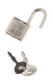 Padlock with keys Royalty Free Stock Photography