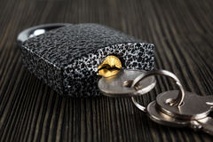 Padlock with keys Royalty Free Stock Images