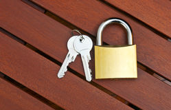 Padlock with keys Stock Photography