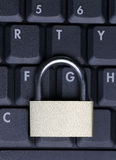 Padlock On Laptop Royalty Free Stock Photos