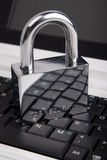 The padlock on the laptop keyboard Stock Photography