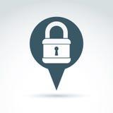 Padlock lock classic icon, vector conceptual stylish symbol for Stock Photography