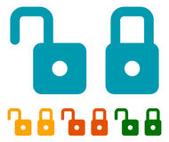 Padlock, lock icon. Flat symbols in modern colors Royalty Free Stock Photos