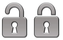 Padlock lock illustration  Royalty Free Stock Photography