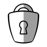Padlock lock security money bank shadow Royalty Free Stock Photography