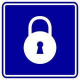 padlock or lock vector sign stock illustration