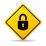 Padlock lock vector sign Royalty Free Stock Photo